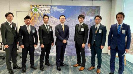 小野寺晃彦青森市長を表敬訪問させて頂きました。